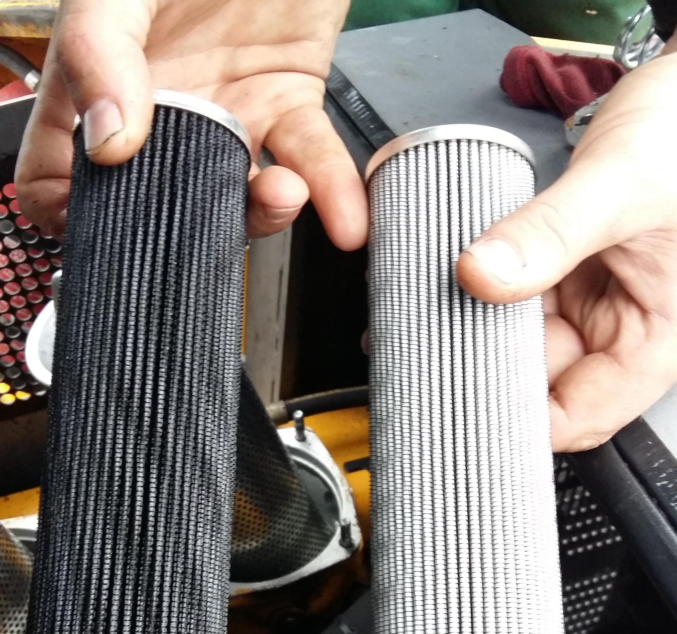 Wymiana filtrów hydraulicznych