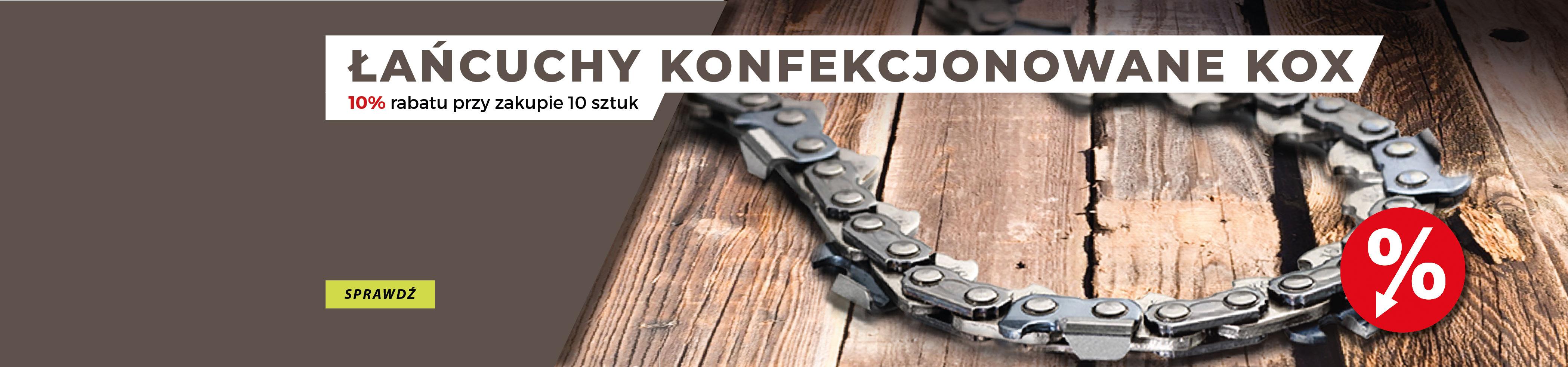 Łańcuchy konfekcjonowane KOX do harwestera - 10% rabatu przy zakupie 10 sztuk